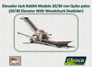 Elevador Modelo 20/30 con Quita palos (20/30 Elevator With Woodchuck Desticker)