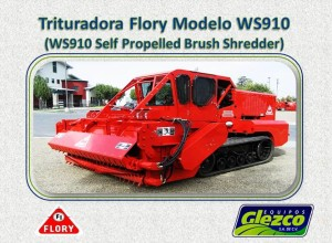 Trituradora Flory Modelo WS910 (WS910 Self Propelled Brush Shredder)